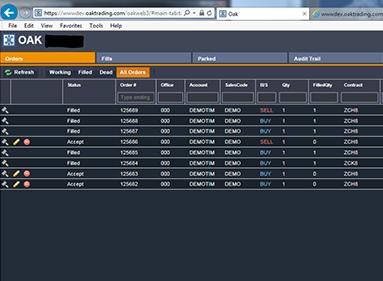 ADMIS Oak Trading Desktop